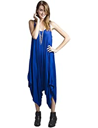 Women's Solid Color Ladies Spaghetti Strap Loose Fit Harem Jumper Multi Color Available