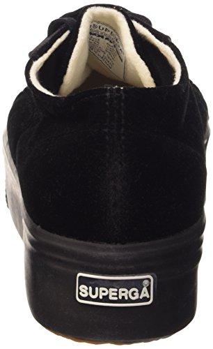velvetw 999 Donna Black Basso Nero Superga Collo 2790 Sneaker a a5xqfPw