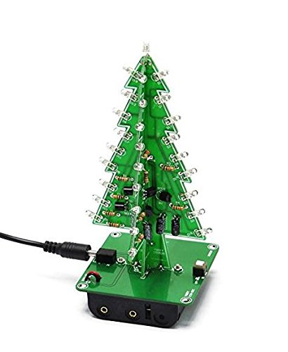 NWFashion DIY PCB Kits MK130 3D Christmas Tree Home&Garden Decoration