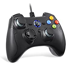 EasySMX Wired Game Controller Joystick with Dual-Vibration TURBO and TRIGGER Buttons for Windows/ Android/ PS3/ TV Box(Black)