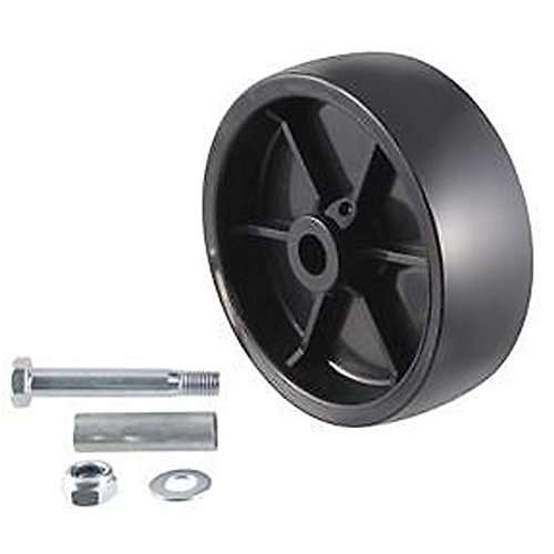 Simply Silver - Caster Wheel - New Replacement 1200LBS Caster Wheel for Trailer Tongue Jacks W/ Bolt & Bushing