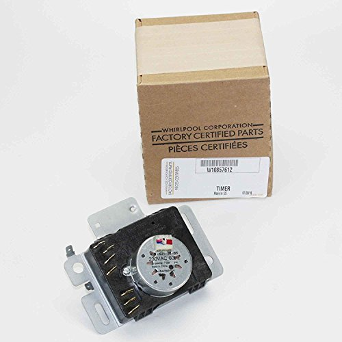 Whirlpool W10857612 Dryer Timer, Small, Black (Timers Whirlpool)