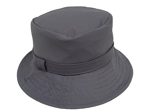 fa95726488a Ladies Resistant Bucket Foldable Hat Grey