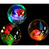 LIGHTS UP! Water-Filled Bouncy Balls which spark light when they bounce! Frozen-Inspired Colors