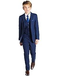 Kingsman Blue, Boys Slim Fit Occasion Wear, Kids Formal Wedding Suit Set, X-Large - 20