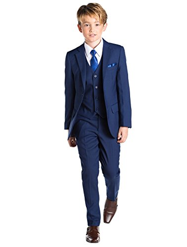 Paisley of London, Kingsman Blue, Boys Slim Fit Occasion Wear, Kids Formal Wedding Suit Set, 14 -
