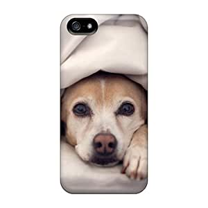 New Tpu Hard Case Premium Iphone 5/5s Skin Case Cover(animals Dogs Funny Blanket Bedroom Pets)