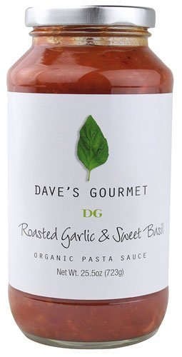 Dave's Gourmet 12 Piece Roasted Garlic and Sweet Basil Organic Pasta Sauce, 25.5 ()