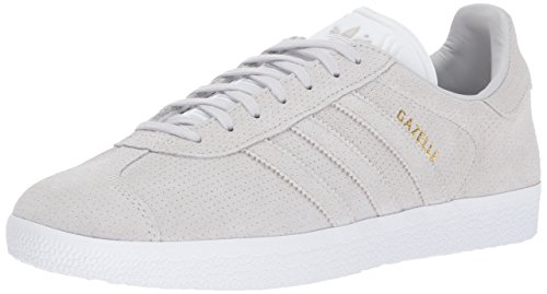adidas Originals Gazelle Sneaker,Grey One/Grey One/Metallic Gold,10.5 Medium US