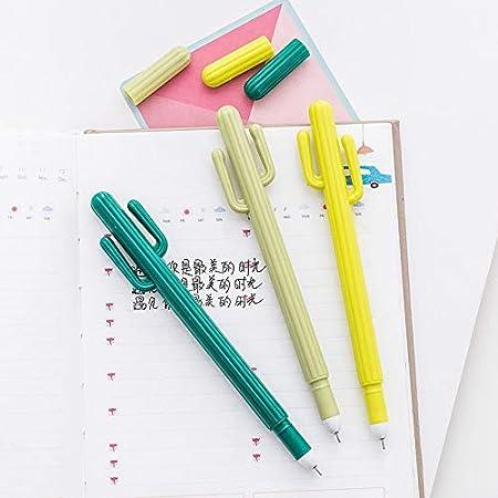 Cactus - Bolígrafo de tinta de gel de color negro con bolígrafo de punta fina para bolígrafos, papelería, escuela, oficina, bolígrafo, bolígrafo de 0,5 mm, juego de arkin: Amazon.es: Oficina y papelería