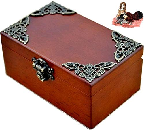 (Anakin.jerry Vintage Wood Rectangle Jewelry Wind Up Music Box : Love Me Tender Theme)
