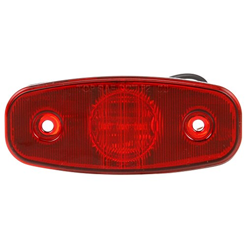 (Truck-Lite 26250R Marker Clearance Light (26 Series, LED, Red Rectangular, 3 Diode, , P2, 2 Screw, Hardwired, .180 Bullet Terminal, 12V))