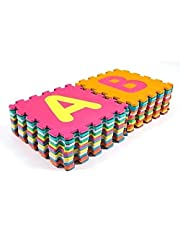 RBWTOYS Alphabet Puzzles Foam Mat Numbers and A to Z Letters for kids Activity Multi Colors Play Mats 36pcs Each size  30x30cm.