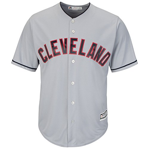 Cleveland Indians Road Gray Cool Base Men's Jersey (XXL)