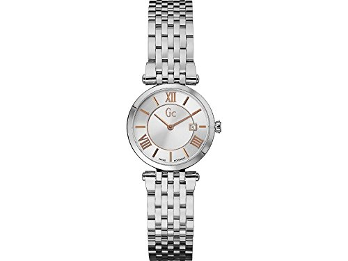 Guess Collection X57001L1S 28mm Silver Steel Bracelet & Case Synthetic Sapphire Women's Watch