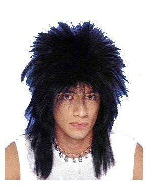 Costume N Rock Roll (Black Rock n Roll Star Costume Wig - Black, One)