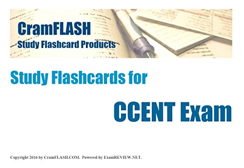 CramFLASH Study Flashcards for CCENT exam: 60 flashcards included - Cisco Ccent Flash Cards