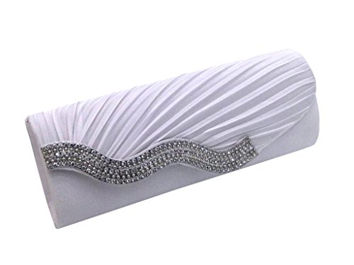 Heyjewels Damen Diamant Faltig Party Casual Damenhandtasche Abendtasche Clutch