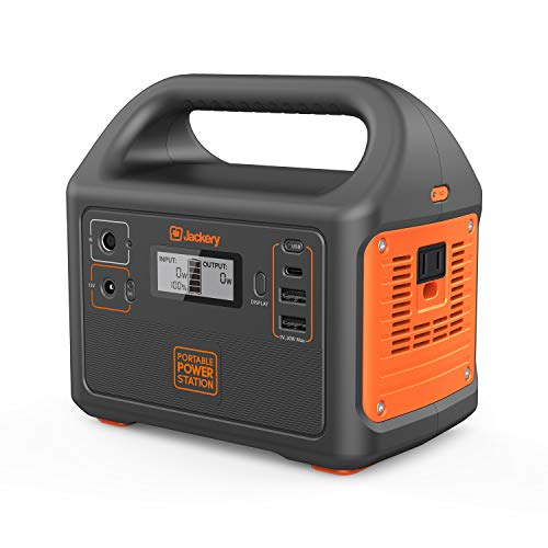 (Jackery Portable Power Station Generator Explorer 160, 167Wh Solar Generator Lithium Battery Backup Power Supply with 110V/100W(Peak 150W) AC Inverter Outlet for Outdoors Camping Fishing Emergency)