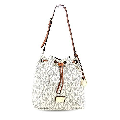 ca30b9fc7c70 MICHAEL Michael Kors Large Monogram Jules Drawstring Shoulder Bag Signature  Vanilla – Buy Online in Oman.