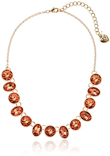 - Betsey Johnson Marie Antoinette Faceted Stone Necklace, 15.5
