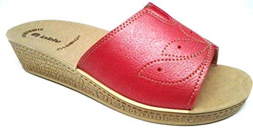INBLU - Zapatillas de estar por casa para mujer rojo CORAL 39