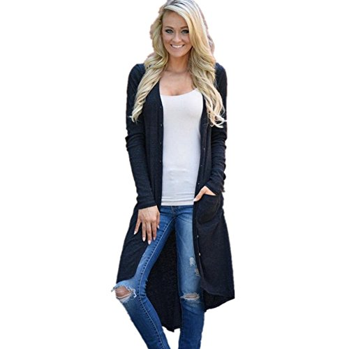 Flank Women Loose Long Sleeve Cardigan Outwear (S)