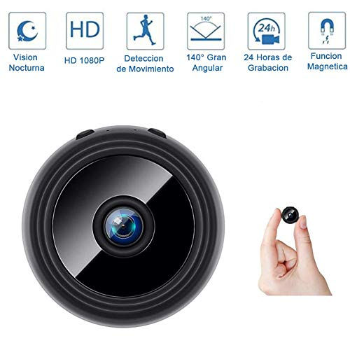 Camera Hidden, Smallest Mini Security Surveillance Camera 1080P Full HD Wireless Micro Tiny Cam for Home Indoor Outdoor Portable Night Vision Motion Detection,Standard +32G Memory Card JIAJIAFUDR