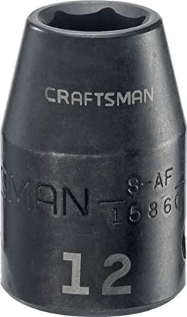 CRAFTSMAN Shallow Impact Socket Metric 1//2-Inch Drive CMMT15863 15mm