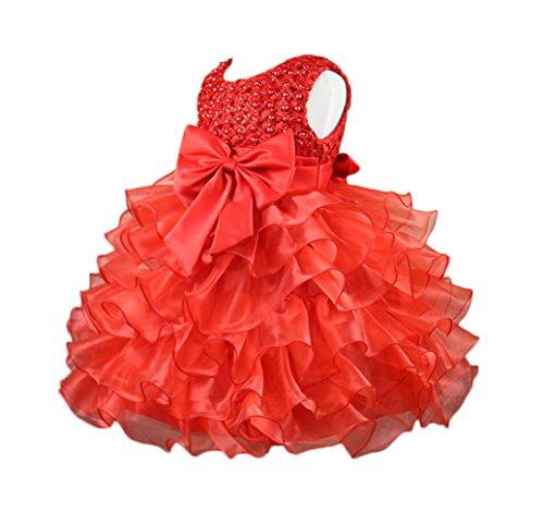 YUOI Baby Girls Bowknot Princess Tutu Wedding Pageant Par...