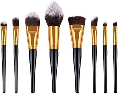Amazon.com: Juego de 8 brochas de maquillaje para maquillaje ...