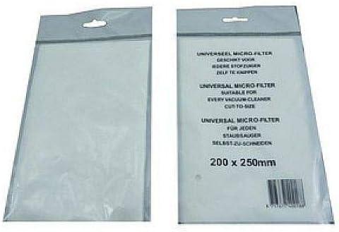 200 x 250 mm recortables 5 microfiltros para aspiradora universal