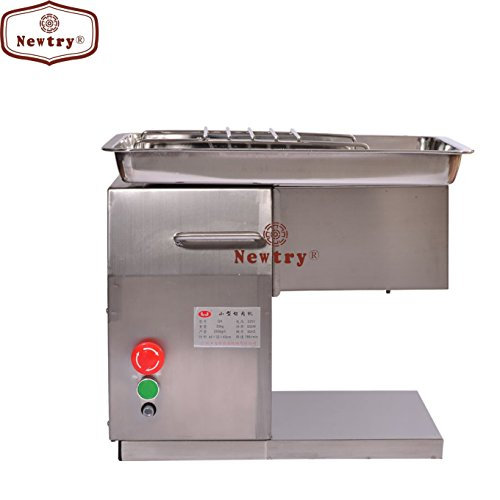 Newtry 250KG/H 550W QX Stainless Steel Desktop Type Meat Slicer/Cutter Meat Cutting Processing Machine (110V)