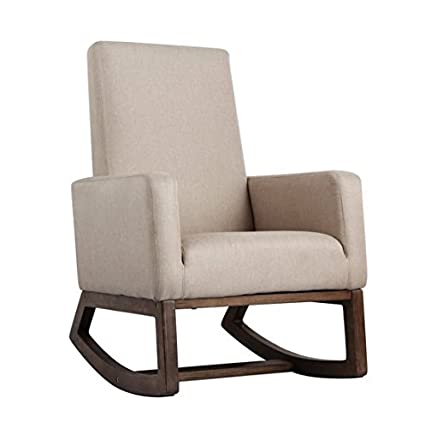 Attrayant Esright Beige Fabric Rocker Morden Rocking Chair Comfortable Relax  Upholstered Glider