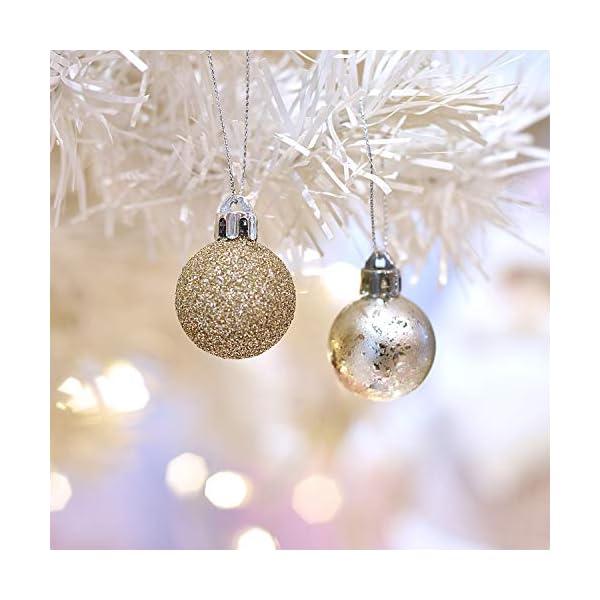 Victor's Workshop 49 Pezzi 3cm Palline di Natale, Ornamenti di Palle di Natale Infrangibili Rosa e Viola per la Decorazione Dell'Albero di Natale 5 spesavip