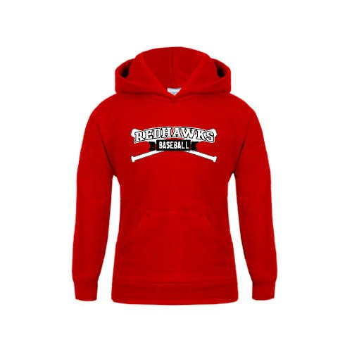 Southeast Missouri Youth Red Fleece Hoodie Baseball Crossed Bats