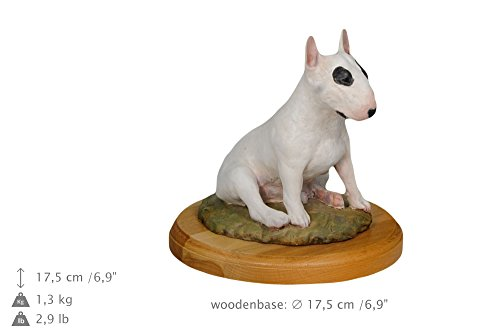 Bull Terrier, dog woodenbase statue, painted, limited edition, make your own statue, ArtDog - Bull Terrier Statues