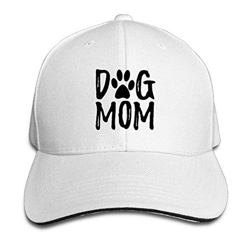 CVDSF20CXDFS Dog Mom Baseball Cap White Sandwich Cap Adjustable Size - Frames Picture Jewlery Holder