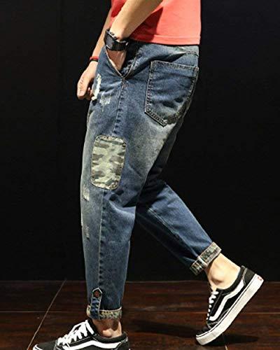 Vaqueros Los Pantalones De De Clubwear Ropa Pantalones Vaqueros Cómodos Mezclilla Sueltos Hombres Los Pantalones Hombres Mittelblau Pantalones Pantalones Tamaños De Ocio Vaqueros De Casuales Para Pantalones EwgAxqzIx