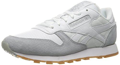 Reebok Scrubs - Reebok Women's CL Leather SPP Fashion Sneaker, White/Cloud Grey/Black, 9 M US