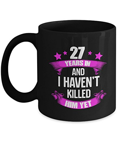 Best 27 Years Wedding Anniversary Gifts For Wife. Cool Mug For Parties