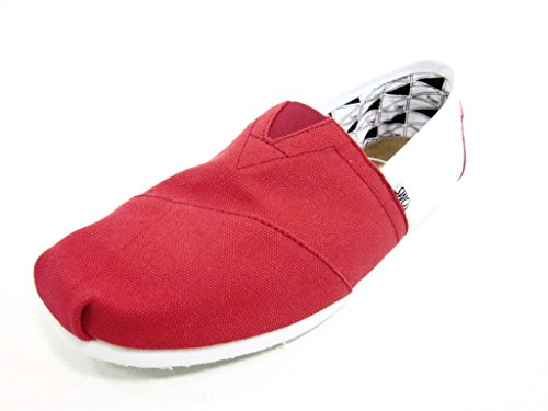 TOMS Mens Campus Classics - U of Arkansas Slip-On Red/White Size 10 New