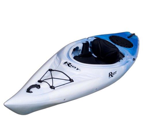 Riot Kayaks Quest 10 Flatwater Recreational Kayak (White/Blue, 10-Feet) Review