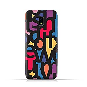 AMC Design Samsung Galaxy J7 2018 TPU Silicone Protective Case with Abstract Font Pattern