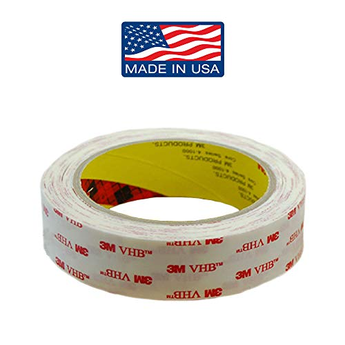 (Adhesive Double Sided Tape Clear: Invisible Mounting Tape, Double Sided Removable Tape, 1 in x 96 in by Volarium)