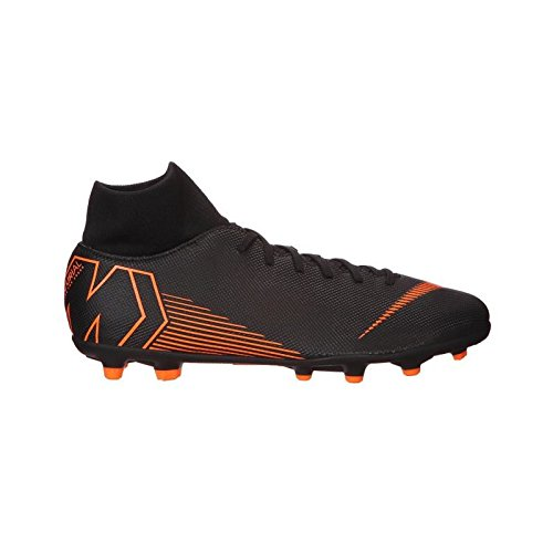 Nike Men's Superfly 6 Club (MG) Multi-Ground Football Boot Black/Total Orange-White, 10.5