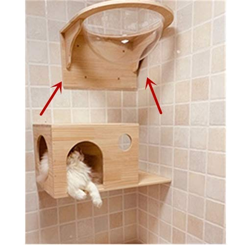 Tardo Wall-Mounted Wooden Cat Space Capsule Cat Bed Small Pets Bed Cat Toy Cat Furniture