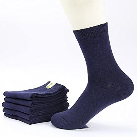 GAOLIM Cotton Socks Socks Thickening Winter Outdoor Breathable Socks And 5 Pairs,Navy