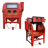 EXTRA LARGE Dual Double Doors Sand Blast Blaster Cabinet Abrasive Blasting 1200L
