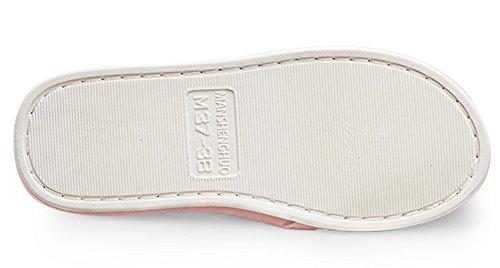 Paare/Familien-Schuhe Happy Lily rutschfester offenen Zehen Sandale Cozy Plüsch Hausschuhe Innen-Schuhe grau